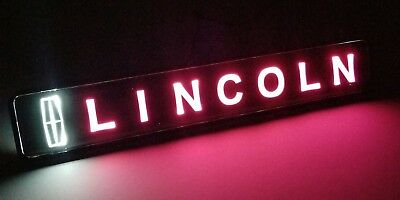 LINCOLN LED Logo Light Car For Front Grille Badge Illuminated Decal Sticker  2000 00 Lincoln Town Car