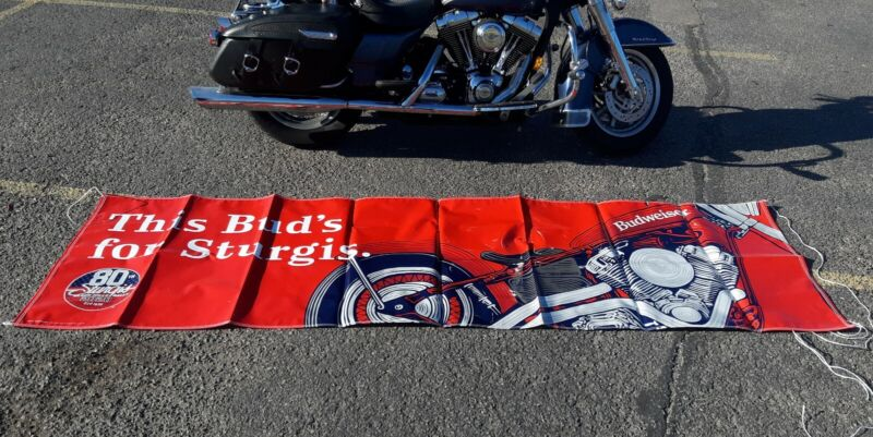 2020 80th Anniversary Sturgis Rally Banner Budweiser official 10