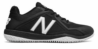 Black Turf Baseball Shoes - New Balance Low-Cut 4040V4 Turf Baseball Cleat Mens Shoes Black