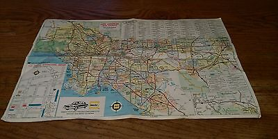 1986 Hertz Rent A Car Rental Area Map Los Angeles California Hm Gousha Rare Co