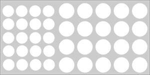 Möbelpflaster Lack weiß RAL 9003 ( Lackfolie Möbelaufkleber Schraubenabdeckung )