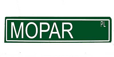 "Metal Street Sign ""Mopar Pl"" Car Garage Man Cave 42138z"