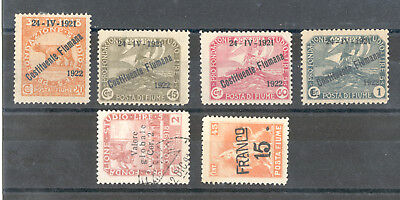 Fiume - Nice Selection of mint and used Stamps Years 1919 - 1921