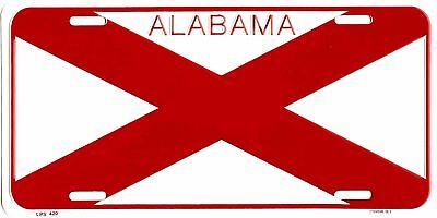 ALABAMA STATE FLAG EMBOSSED METAL LICENSE PLATE AUTO CAR TAG #420
