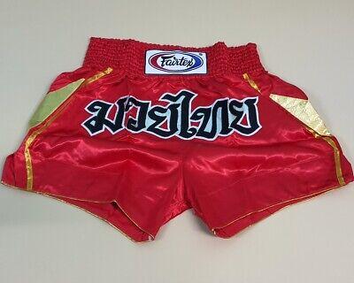 Fairtex Muay Thai Kickboxing MMA Fight Shorts AB8 All Sports Board Shorts Red