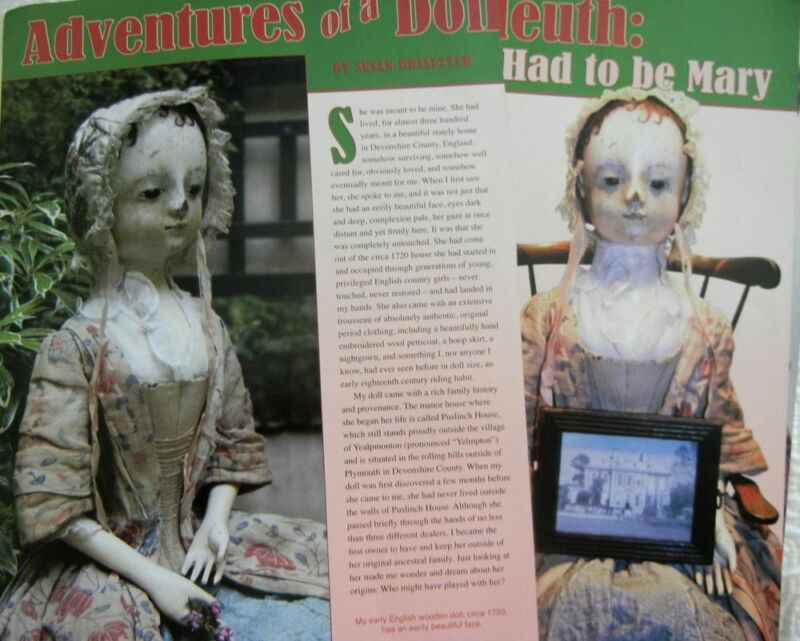 18p History Article + Paper Doll - Antique English Queen Anne Doll & CLothing