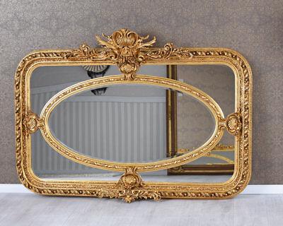 Barockspiegel Spiegel Antik Gold Wandspiegel Flurspiegel 103 x 73cm Goldspiegel