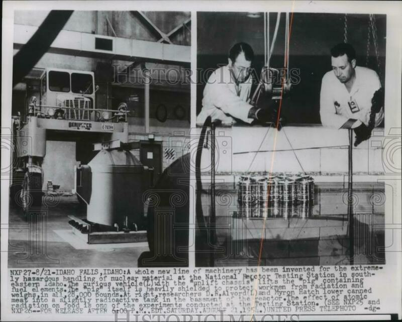 1954 Press Photo New equipment developed to work with radioactive material