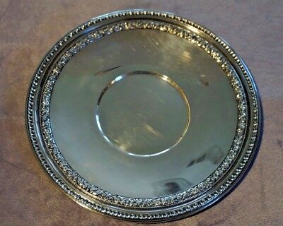 "Reed and Barton Silverplate Sandwich Plate/platter/tray #1201 ""Bel Air"" Pattern"