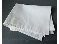 White Plain Tea Towels (Pack of 50) - 49x79cm, suitable for screen printing, embroidery etc