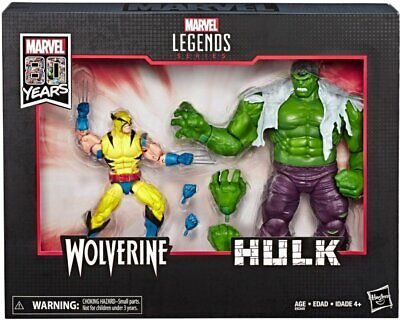 Marvel - Legends Series Hulk And Wolverine, Fast Free Shipping