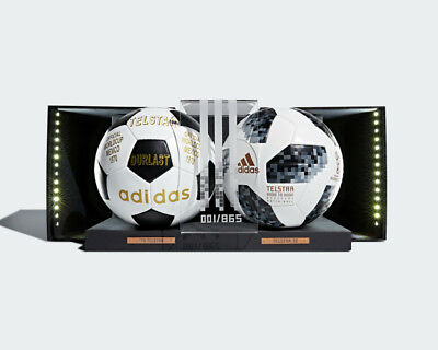 more photos 0b40f d2dbe ADIDAS FIFA 18 WORLD CUP OFFICIAL GAME BALL PACK CW5053 LIGHT UP DISPLAY   693