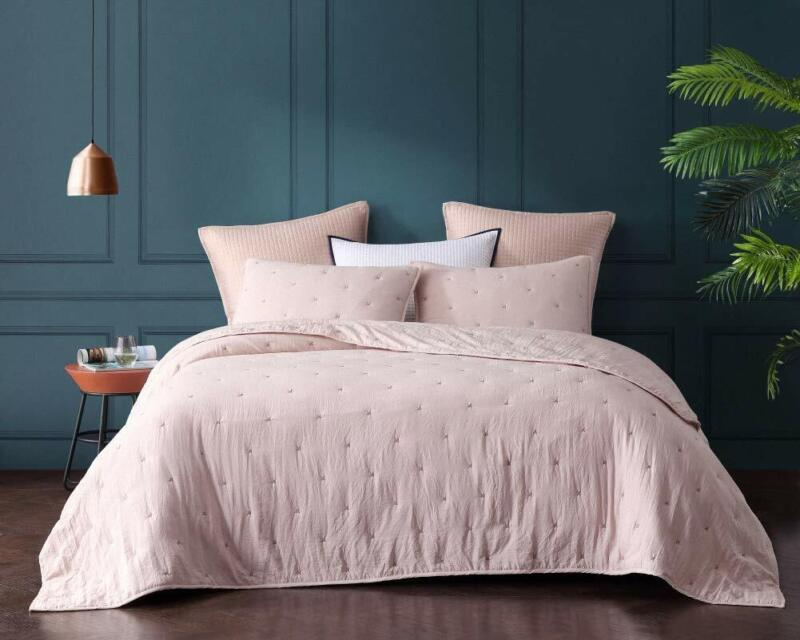 Bourina Reversible Quilt Coverlet Set Queen - Pre-Washed Mic