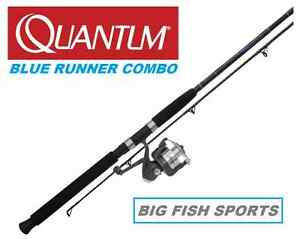 Quantum zebco 8 blue runner fishing combo spinning rod and for Dicks sporting goods fishing poles