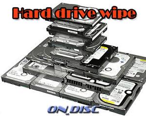 HARD DISC DISK DRIVE DATA FORMAT WIPE CLEAN ERASE HDD