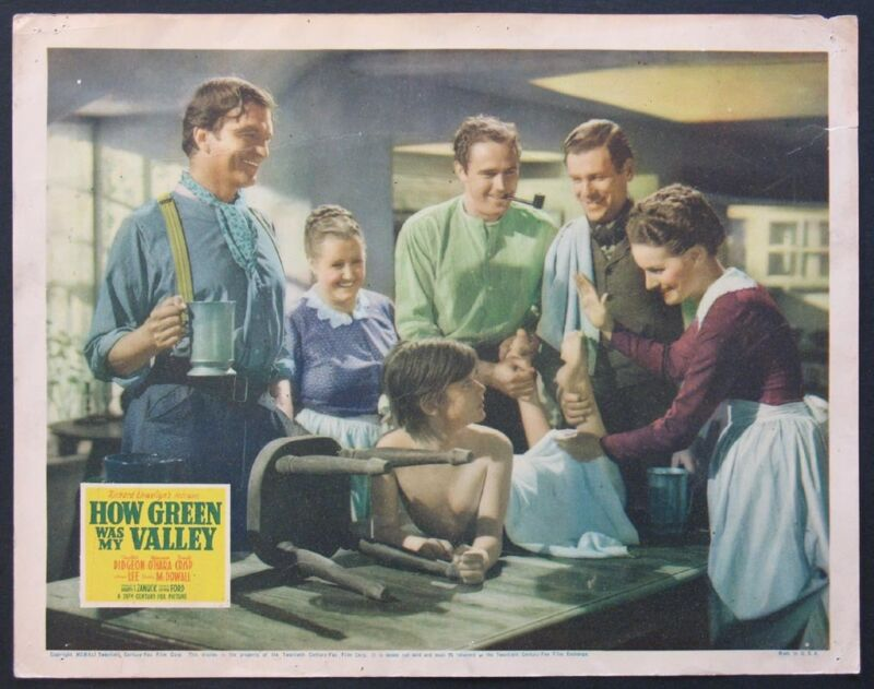 HOW GREEN WAS MY VALLEY RODDY MCDOWALL 1941 LOBBY CARD