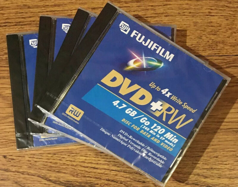 Lot ~ 4x FUJIFILM DVD-RW 4.7 GB / 120 Min. Re-Recordable Data & Video Discs~NEW