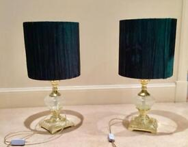 Statement Side Table Lamps x2