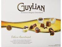 NEW GUYLIAN DELUXE ASSORTMENT BELGIAN CHOCOLATE LARGE PRESENT GIFT BOX 528g
