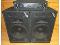 DAP Audio Speakers (250w) & ProSound 400 Professional Power Amp with leads