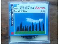 Polarizing Circular Filter 62mm Hama