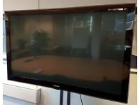 """Samsung PS63A756T1M 63"""" Plasma Screen and Wheeled Stand"""