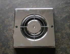 CHROME PLASTIC FAN COVER BATHROOM SHOWER EXTRACTOR NEW 160MM WIDE AND 140MM BETWEEN SCREW HOLES