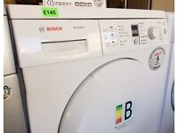BOSCH - Avantixx 8kg - White, LCD Screen, CONDENSER DRYER + 3 Month Guarantee + FREE LOCAL DELIVERY