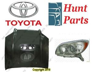 Toyota 4Runner 4 Runner 2006 2007 2008 2009 Head Lamp Light SR5 Sport Hood Ac Compressor Radiator Support Base Limited
