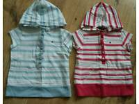 Tommy Hilfiger girls hooded tshirts age 3 yr