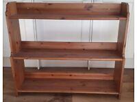 Solid wooden pine shelf unit