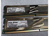 OCZ PC2 6400 2GB memory for Desktop not laptop