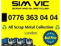 SCRAP METAL WANTED FREE COLLECTION ALL LONDON 24/7 TOP PRICE PAID
