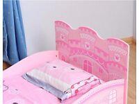 Beautiful pink princess castle toddler bed