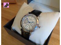 Rotary RLS00024-07-BLK Ladies Diamond Set Black Leather Strap Chronograph Watch - NEW - RRP £100