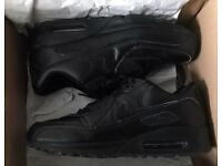 Genuine Nike AirMax 90 in Size 9 with box Triple Black Leather Air Max 90's Authentic Trainer