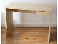 IKEA BIRCH DESK WITH ONE DRAWER. IMMACULATE CONDITION. ONLY £25.