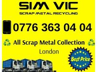 Free scrap metal collection London   All ereas   Top price paid   The same day collection