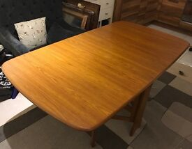 Drop Leaf Butterfly Wooden Table Vintage Retro £30
