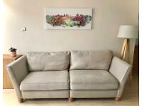 Oak Furnitureland large 4 seat sofa and footstool - Can deliver
