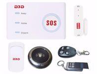 D3D D10 Wi-Fi / GSM Burglar Security Alarm System With 1 PIR + 1 Door Bell + 1 Door Sensor