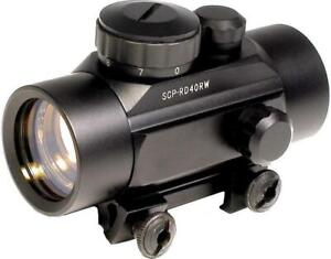 RED DOT GUN SIGHT -- RAPIDLY ACQUIRE A TARGET AND TAKE THE SHOT -- IDEAL FOR AIRSOFT AND PAINTBALL !!