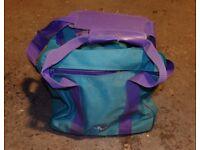 Tenpin bowling ball in carry bag
