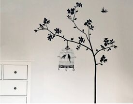 Contemporary Bird in a Tree Wall Sticker