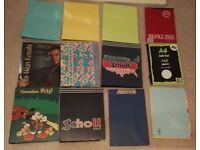 Job lot: A4 Ring Binders/Folders, Dividers, Paper, Clipboard, Scrap Book (Stationery/Back to School)