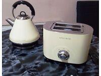 Dunelm Spectrum Cream Kettle & Toaster