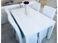 Extendable table with chairs IKEA WHITE