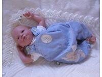 """Reborn baby Doll cute preemie reborn boy doll 18"""" with slightly bent legs"""