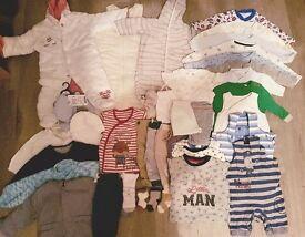 Boy clothes/sleeping bag 0-3 months