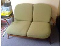 Ercol 2 seater sofa & 2 arm chairs